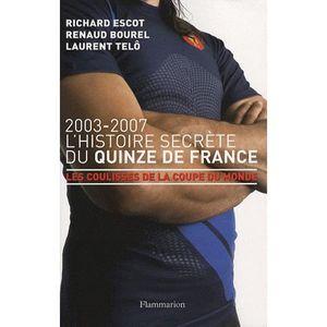 LIVRE SPORT L'Histoire secrète du Quinze de France
