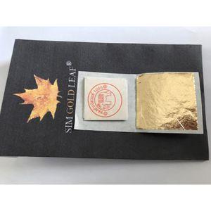 DÉCORATION PÂTISSERIE 20 Feuilles d'or 24 carats dans la base 100% authe