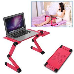 SUPPORT PC ET TABLETTE table de lit Pliable réglable pour PC portable Pla