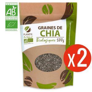 CÉRÉALES - MÉLANGES Graines de Chia Bio - 1kg