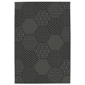 TAPIS CARLTON Tapis de salon Relax 160 X 230cm-Noir