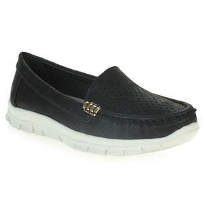 MOCASSIN Chaussures Femmes Dames Confort Bureau de travail