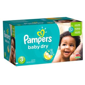COUCHE 304 Couches Pampers Baby Dry taille 3