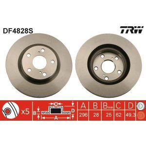 DISQUES DE FREIN TRW Disque de frein unitaire DF4828S