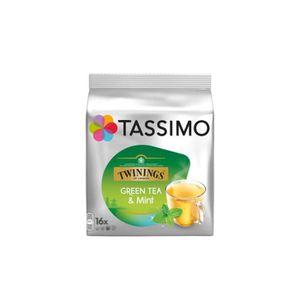 CAFÉ DOSETTE TWININGS Tassimo Thé Dosettes Thé vert à la menthe