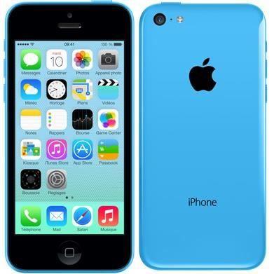 apple iphone 5c bleu 8go achat smartphone pas cher avis et meilleur prix cdiscount. Black Bedroom Furniture Sets. Home Design Ideas
