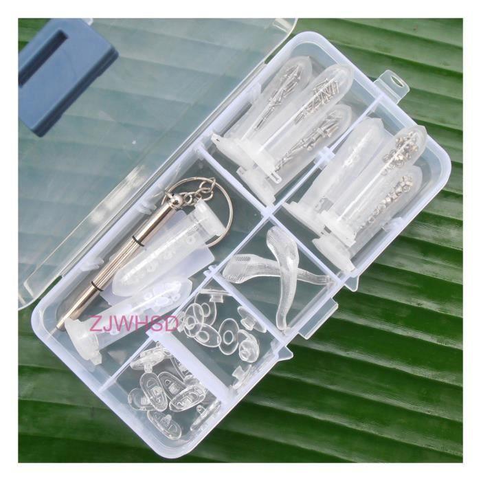 Boîte d outils et de réparation un assortiment Lunettes optique réparation  outil Kit vis écrou repose-nez la valeur 6c959ab6f1db