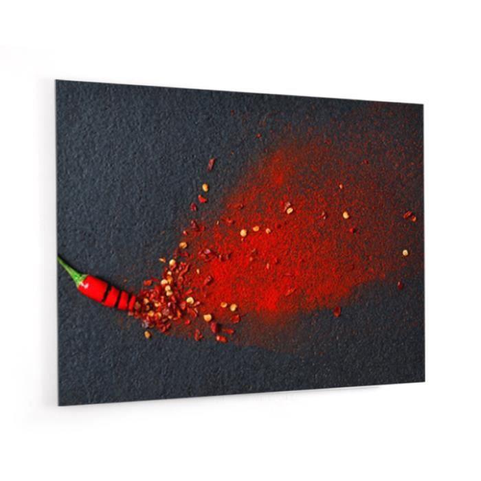 """Fond De Hotte """"Piment Rouge Et Ardoise"""" En Verre De Synthèse L, 90"""
