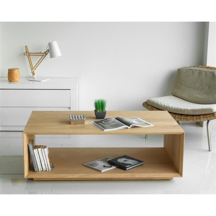 Swithome Achat Table Epure Chêne Basse Massif Vente 54RjAL