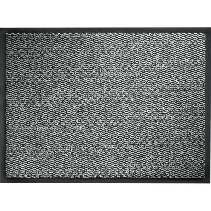 Tapis D Entree A Motifs 80x120 Cm Style Classique Coloris Gris