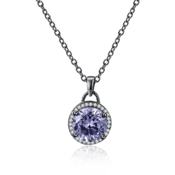 Noir Violet Éléments Swarovski Merrill® Argent Collier Vintage Blanc trsdhQ