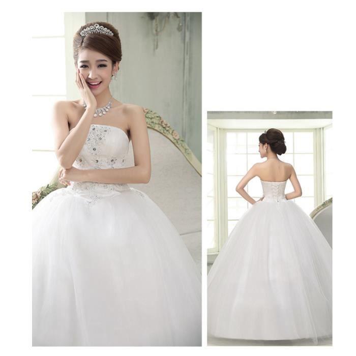 les femmes de couleur blanche robe de mariée jupe