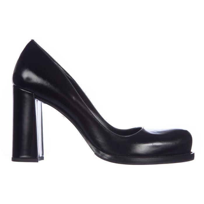 71b3191aa3e112 Escarpins chaussures femme ' talon en cuir Prada Noir Noir - Achat ...