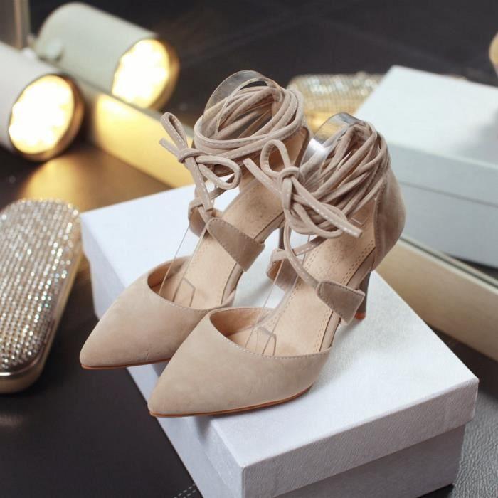 Sandales en dentelle Toe mises en avant talon haut Gladiator