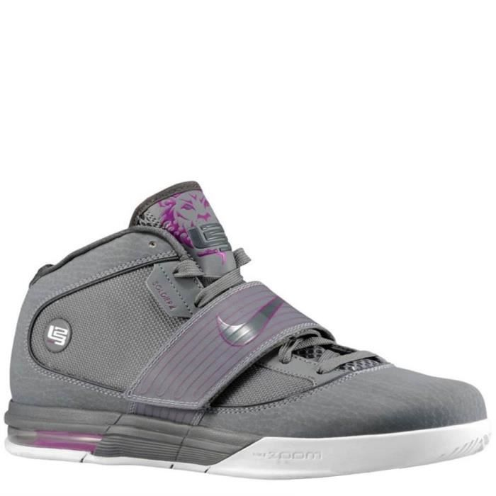 2c5eaa603e2c Sneakers Homme NIKE Zoom Soldier IV Lebron James Grey Purple Gris ...