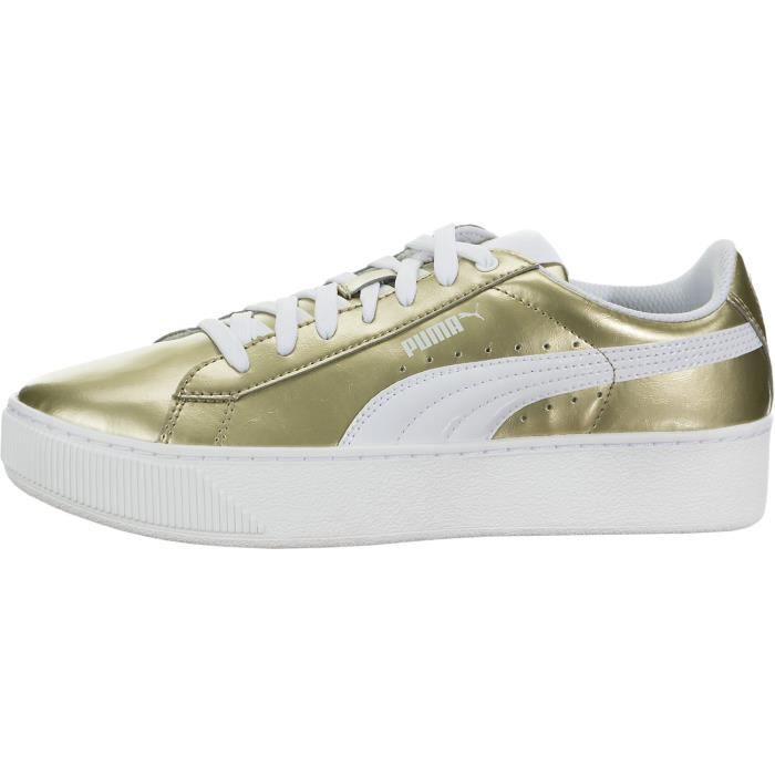 Puma Vikky Plate-forme métallique Sneaker Fashion JIUPK Taille-37