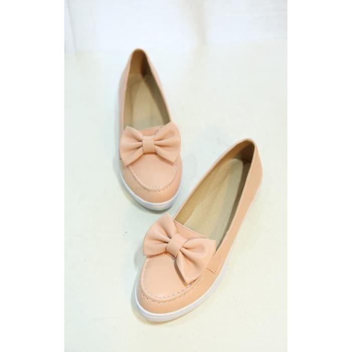 baskets-Pure Color bout rond talon plat des femmes bowknot Sneakers