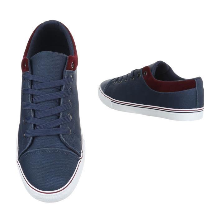 homme chaussures flâneurs Sneakers loisirs chaussures Bleu foncé 41