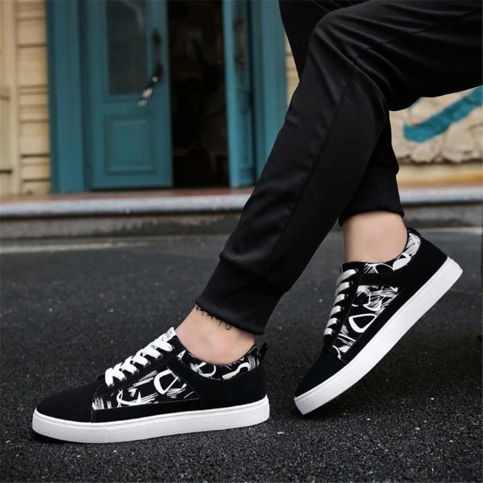 Chaussures de sport Qualité Supérieure résistantes à l'usure Sneaker hommes Graffiti Chaussure homme Plus Taille 39-44,rouge,43