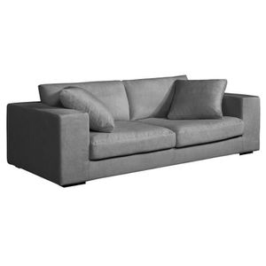 Housse canape 2 places gris achat vente housse canape 2 places gris pas cher cdiscount for Housse divan 2 places