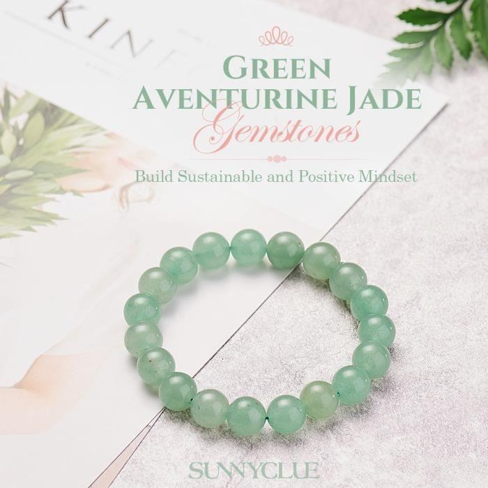 Womens Semi Precious Gemstone 10mm Round Beads Stretch Bracelet Prom Party Jewelry About 7 Unisex CPKTK