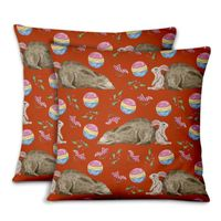 HOUSSE DE COUSSIN S4Sassy ours et lapin taies doreiller chambrecouch
