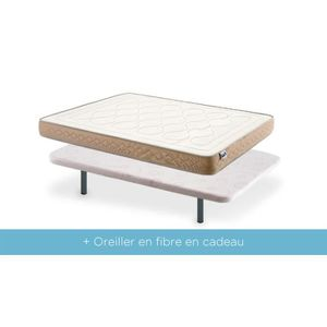 lit complet avec sommier et matelas 90x200 achat vente pas cher. Black Bedroom Furniture Sets. Home Design Ideas