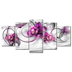 TABLEAU - TOILE Tableau Décoratif Orchids and Pearls Abstraction N