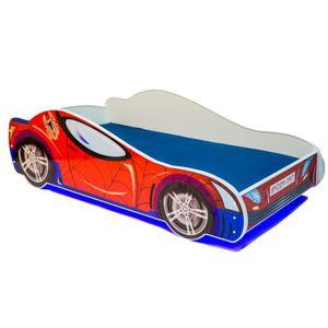 LIT COMPLET Lit enfant auto LED