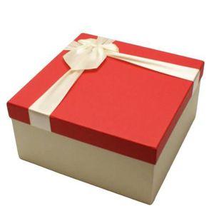 Boîte cadeau Coffret cadeaux bicolore de couleur écru et couver