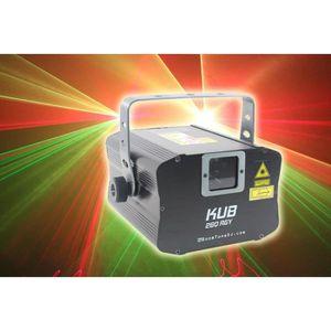 ECLAIRAGE LASER Laser Boomtone DJ KUB 260 RGY