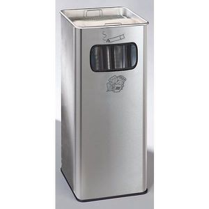 POUBELLE - CORBEILLE Combiné cendrier-poubelle avec cendrier à remplir