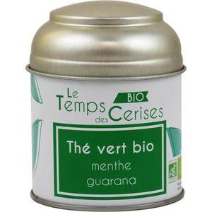 INFUSION LE TEMPS DES CERISES Thé Vert MenThé Guarana Bio B