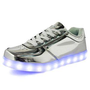 0395863deb6 Basket Unisexe Miroir Chaussures LED Femme Homm... d Argent - Achat ...