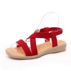 SANDALE - NU-PIEDS Chaussures Sandales Femmes - Mode Casual Plage Fil