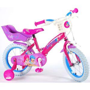 VÉLO ENFANT Shimmer&Shine Vélo Enfant Fille 14 Pouces Freins s