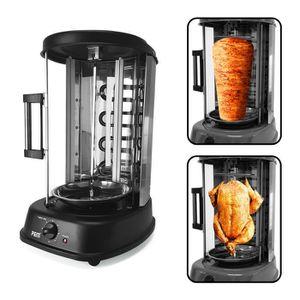 Machine à kébab Grill électrique vertical noir 1500W - Poulet + Ke