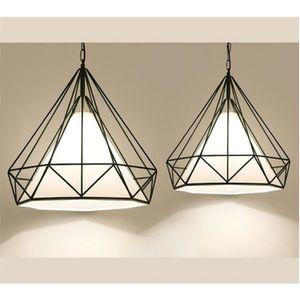 LUSTRE ET SUSPENSION 1 PCS Suspension lustre luminaire forme de diamant