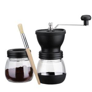 MOULIN À CAFÉ Moulin a cafe manuel avec bocal de stockage, bross