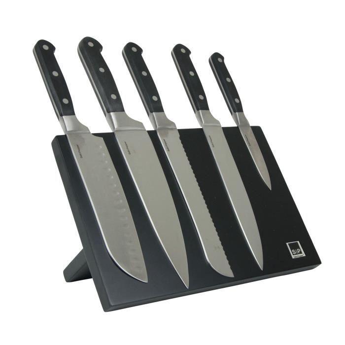 SP Bloc couteau magnétique Blade - 6 pièces - Noir