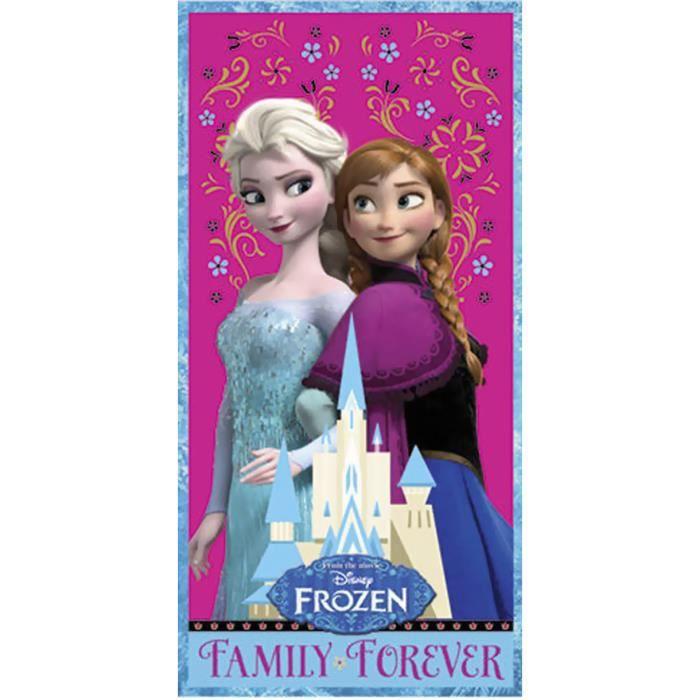 15f8f81ccb8513 ... Disney La Reine des Neiges. SERVIETTES DE BAIN FROZEN - Serviette de  plage Family Forever Frozen