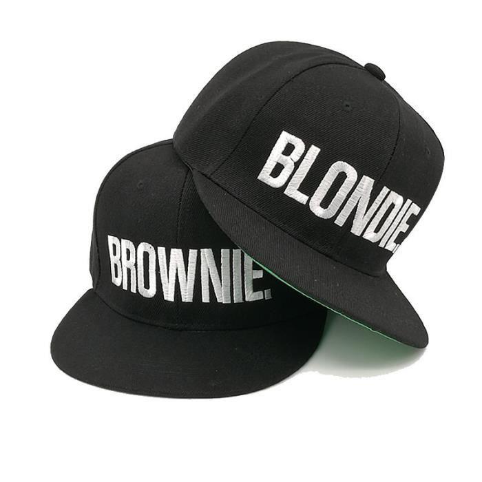 587ae1f74fae3 BLONDIE LUTIN Broderie Casquettes de chapeau Snapback Femme homme Casquette  de baseball pour filles Hip hop Capuchon ajusté Gorras B