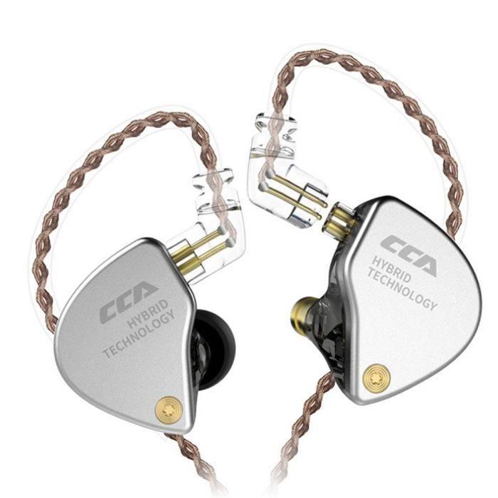 Efuture Cca Ca4 Écouteur Anneau De Fer 4 Écouteurs Intra-auriculaires Sport Noir Sans Microphone