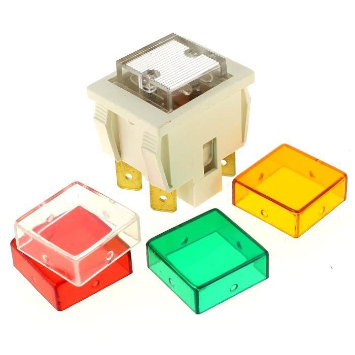 FOUR Interrupteur 4 cosses transparent pour Micro-ondes