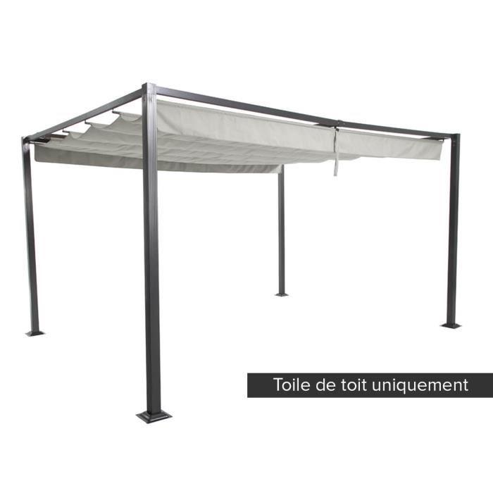 toile de toit pour la tonnelle elliston 3 x 4 m sable. Black Bedroom Furniture Sets. Home Design Ideas