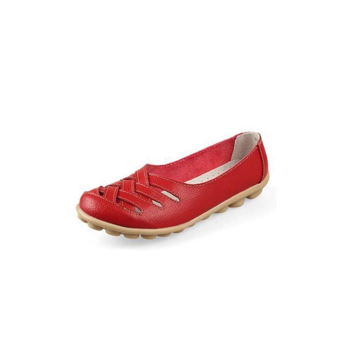 Mocassin blanc Chaussure rouge Femme Rouge Pour Bleu APU1dqS
