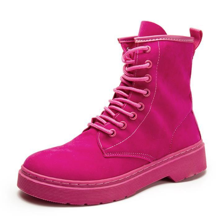 mi-bottes Femmes Hiver Garder au chaud Martin Bottines Style britannique Confortable Chaussures Plus De Couleur Taille 35-40