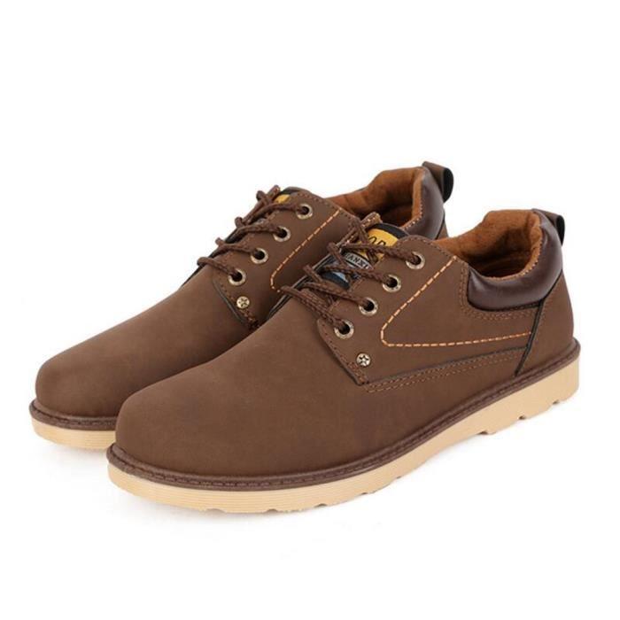 Sneakers hommes Durable 2017 ete chaussure randonnee Haut qualité Antidérapant Durable de plein air marron Grande Taille 41 KoSzhg