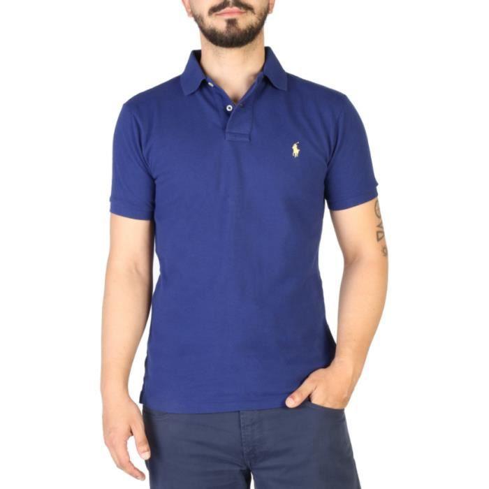 e509387c1e99fb Polo Ralph Lauren Bleu logo Jaune Bleu Bleu - Achat   Vente polo ...
