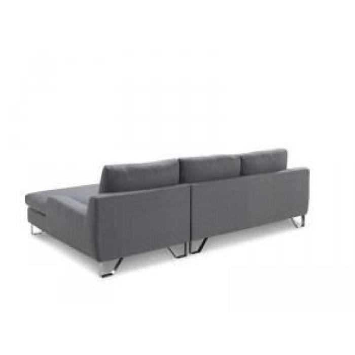 Paris prix canap trendy gris angle gauche achat for Soldes canape tissu